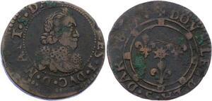 O2909 Charleville Charles II de Gonzague double tournois 1639 Charleville