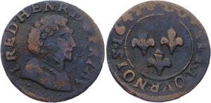 O2923 Rare Frederic Henri de Nassau Double tournois 1642 ->Make offer