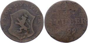 O2932 German States Jever-Grafschaft 1/4 ¼ Stuber Friederike Auguste Sophie