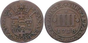 O2940 German States Paderborn Bistum 4 Pfennig Paderborn 1718 ->Make offer