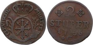 O2941 German States Brandenburg-Preußen 2 Stüber Friedrich II 1756 ->Make offer