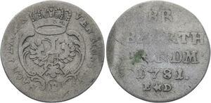 O2953 German States Brandebourg-Ansbach-Bayreuth 2 1/2 Krezer 1781 ->Make offer