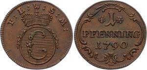 O2965 Germany Lowenstein Wertheim Rochefort Constantin Pfennning 1790 AU