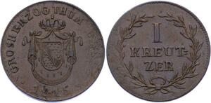 O2988 German States Baden 1 Kreutzer Karl Ludwig Friedrich 1815 AU ->Make offer