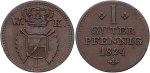 O3046 Germany Schaumburg Hessen Hesse Wilhelm II 1824 KM# 41 AU !! ->Make offer