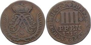 O3083 Germany Munster 4 Pfennig Franz Arnold Metternich 1715 ->Make offer