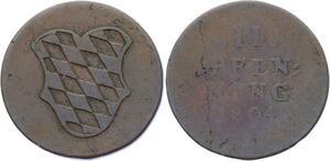 O3086 Germany Bavaria 2 Pfennig Maximilian IV Josef 1804 KM# 634 ->Make offer