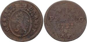 O3095 Very Rare !! German States Hesse Darmstadt 1 Pfennig 1731 ? ->Make offer