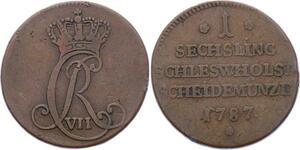 O3131 Scarce Germany Danish Schleswig Holstein Christian VII 1787 KM#118