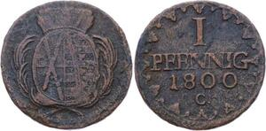 O3143 German States Saxony Pfennig Friedrich August III 1800 C ->Make offer