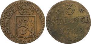 O3144 German States Julich Berg 3 Stüber Carl Theodor 1792 PR ->Make offer
