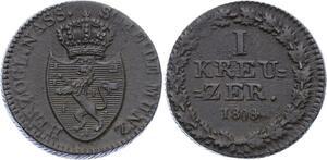 O3146 German States Nassau 1 Kreuzer Friedrich Wilhelm 1808 AU ->Make offer
