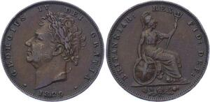 O3219 Great Britain Farthing George IV 1829 ->Make offer
