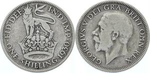 O3237 Great Britain 1 Shilling George V 1930 Silver ->Make offer
