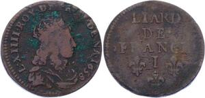 O3255 France Liard Louis XIV 1658 I Limoges -> Make offer