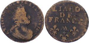 O3261 Liard de France Louis XIV 1697 AA Metz -> Make offer