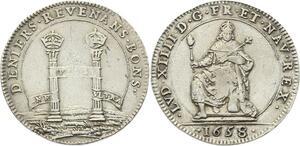 O3287 Rare R2 Jeton Louis XIV Chambre deniers Revenans Bons 1658 Argent Silver