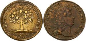 O3311 Jeton Louis XIV Chambre aux deniers 1688 Oranger ->Make offer