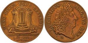 O3317 Jeton Louis XIV Chambre aux deniers 1695 aqueduc ->Make offer