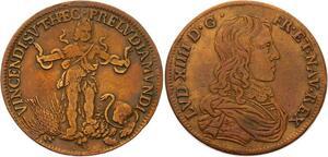O3323 Rare Jeton Louis XIV Roi Soleil Adolescence Hercule enfant ->Make offer