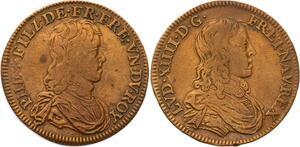 O3324 Rare R2 Jeton Louis XIV Anne Autriche Philippe deuxième fils ->Make offer