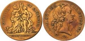 O3326 Jeton Louis XV Chambre deniers 1744 Pallas et l'Abondance ->Make offer