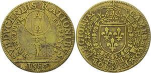 O3330 Jeton Henri III Chambre Comptes 1586 miRoir à main ->Make offer