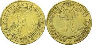 O3332 Jeton Anne Autriche 1645 grand palmier Aigle ->Make offer