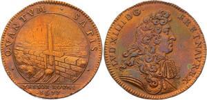 O3346 Jeton Louis XIV Buste à la cravate Trésor Royal 1677 SUP SPL !! ->M offre