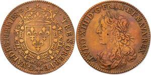 O3347 Rare Jeton R2 Louis XIII Trésorerie générale fermes France ->Make offer