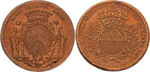 O3358 Rare Jeton Louis XV Dijon Maire Jean Pierre Burteur 1733 ->Make offer