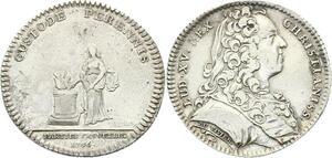 O3366 Jeton Louis XV Parties Revenus Casuels Sacrifice 1736 Argent ->M offre