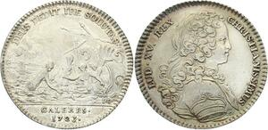 O3367 Jeton Louis XV Marine Galères Royales Sirènes nauvrages 1723 Argent ->FO