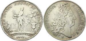 O3376 Jeton Louis XIV Batiments du Roi Louis XIV Amphion 1713 Argent ->M offre