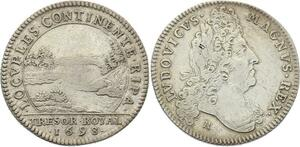 O3389 Jeton Louis XIV Trésor Royal Chambre Fleuve Rives 1698 Argent ->M offre