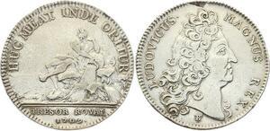 O3392 Jeton Louis XIV Trésor Royal Chambre Fleuve 1709 Argent ->M offre