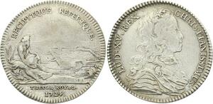 O3401 Jeton Louis XV Trésor Royal Fleuve Urne 1724 Argent ->M offre