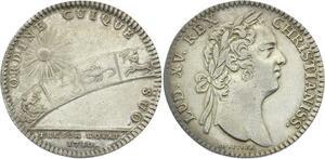 O3406 Jeton Louis XV Trésor Royal Soleil Zodiaque Astrologie 1730 Argent ->FO