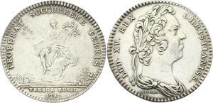 O3407 Jeton Louis XV Trésor Royal Abondance assisse 1731 Argent ->M offre