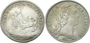 O3422 Rare Jeton Louis XV Royal Aurore Flambeau 1754  Argent ->M offre