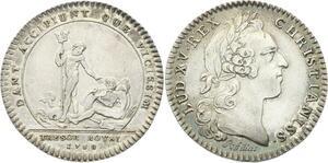 O3438 Jeton Louis XV Trésor Royal Neptune Urnes 1758 Argent ->M offre