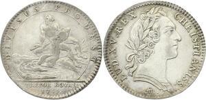O3441 Jeton Louis XV Trésor Royal Fleuve 1755 Argent ->M offre