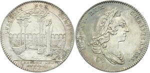 O3444 Rare Jeton Louis XV Chambre aux deniers 1748 Thermes Aqueduc Argent SUP