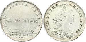 O3463 Jeton Louis XV Trésor Royal Sibi Credita Reddit Moissin 1749 Silver
