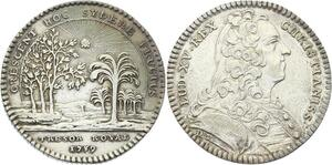 O3474 Jeton Louis XV Trésor Royal avec Rayons Soleil Argent Silver ->Make offer