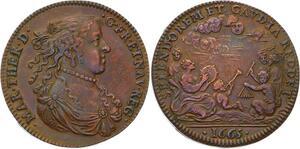 O3492 Rare Jeton Louis XIV Marie Thérèse Autriche Austria 1665 SUP ->M offre