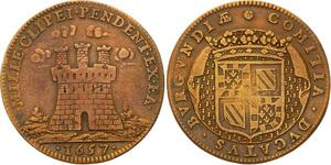 O3496 Jeton Louis XIV Bourgogne Sacre Habiles Capitaines Francais 1657