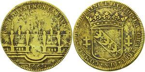 O3533 Rare Jeton duche Lorraine Charles IV duc CRoix 1662 Jardins Vieux Thermes
