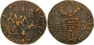 O3537 Rare Jeton duche Lorraine Charles III Grand duc 1579 TRois alérions