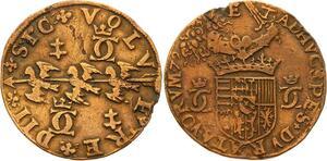 O3538 Rare Jeton duche Lorraine Charles III Grand duc 1579 TRois alérions